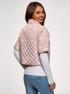 Куртка стеганая принтованная oodji #SECTION_NAME# (розовый), 10207002-1/45419/4012F - вид 3