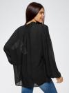 Блузка свободного кроя из вискозы oodji #SECTION_NAME# (черный), 11411122M/45190/2900N - вид 3