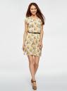 Платье вискозное без рукавов oodji #SECTION_NAME# (желтый), 11910073B/26346/5052F - вид 2