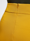 Юбка короткая базовая oodji #SECTION_NAME# (желтый), 11600399-1B/14917/5700N - вид 5