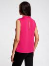 Блузка базовая без рукавов с воротником oodji #SECTION_NAME# (розовый), 11411084B/43414/4700N - вид 3