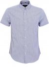 Рубашка приталенная в мелкую клетку oodji #SECTION_NAME# (синий), 3L210024M/44172N/1075C