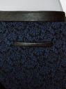 Брюки стретч с поясом из искусственной кожи oodji #SECTION_NAME# (синий), 11708080-2/43710/2979J - вид 5