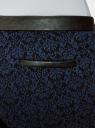 Брюки стретч с поясом из искусственной кожи oodji для женщины (синий), 11708080-2/43710/2979J