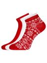 Комплект носков с двойной резинкой (3 пары) oodji для женщины (разноцветный), 57102703T3/47469/2
