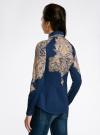 Блузка хлопковая с этническим принтом oodji #SECTION_NAME# (синий), 21402212-2/45966/7533E - вид 3