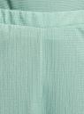 Брюки широкие с поясом на резинке oodji для женщины (зеленый), 18601020/50539/6500N