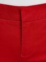 Брюки базовые хлопковые oodji для женщины (красный), 11706204B/46777/4500N