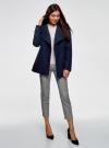 Пальто с поясом и асимметричной застежкой oodji для женщины (синий), 10104041-2/43442/7900N - вид 6
