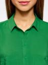 Блузка из вискозы с нагрудными карманами oodji #SECTION_NAME# (зеленый), 11400391-3B/24681/6B00N - вид 4