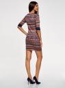 Платье жаккардовое с геометрическим узором oodji #SECTION_NAME# (красный), 14001064-5/46025/3133J - вид 3