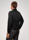 Рубашка базовая приталенного силуэта oodji #SECTION_NAME# (черный), 3B110012M/23286N/2900N - вид 3