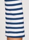 Джемпер в рубчик с рукавом 3/4 oodji для женщины (синий), 15E11003/45210/1075S