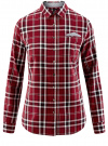 Рубашка принтованная хлопковая oodji #SECTION_NAME# (красный), 11406019/43593/4529C