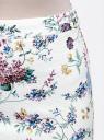 Юбка-карандаш из фактурной ткани oodji для женщины (белый), 14101088-1/42588/1019F