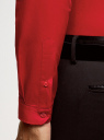 Рубашка базовая приталенная oodji #SECTION_NAME# (красный), 3B140002M/34146N/4500N - вид 5