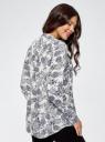 Блузка вискозная А-образного силуэта oodji для женщины (белый), 21411113B/26346/3079O