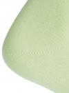 Носки базовые хлопковые oodji для женщины (зеленый), 57102466B/47469/6000N - вид 3