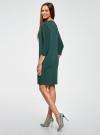 """Платье свободного силуэта с рукавом """"летучая мышь"""" oodji #SECTION_NAME# (зеленый), 24008311/46064/6E00N - вид 3"""