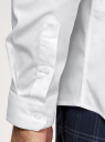 Рубашка приталенная с воротником-стойкой oodji для мужчины (белый), 3B140004M/34146N/1000N