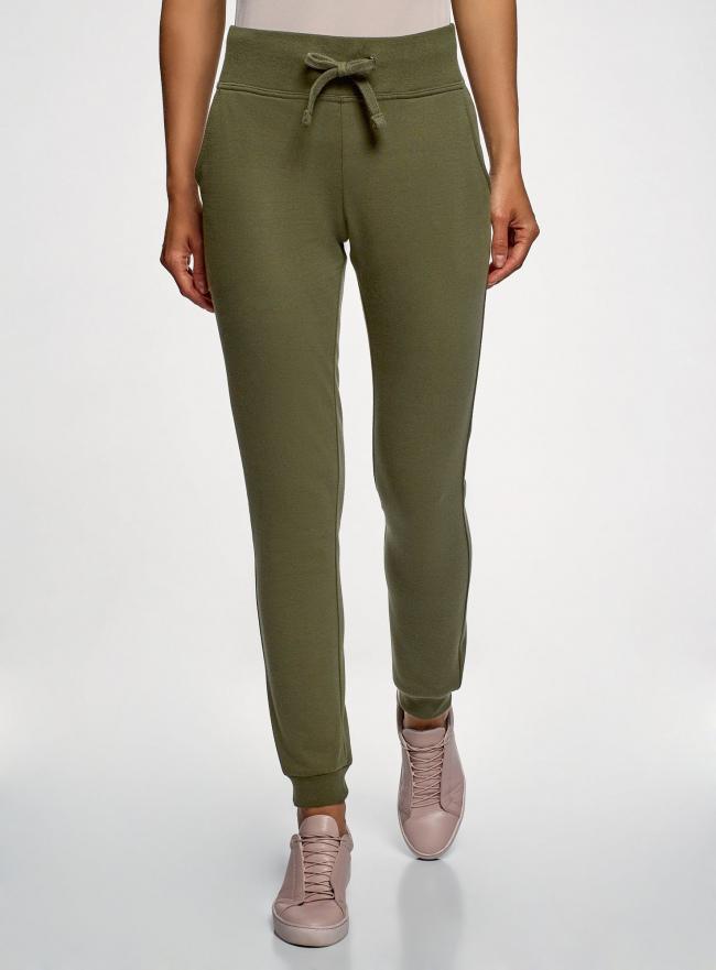 Комплект трикотажных брюк (2 пары) oodji для женщины (зеленый), 16700030-15T2/46173/6800N