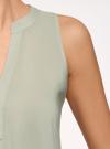 Топ базовый из вискозы oodji для женщины (зеленый), 14911008-1B/48756/6000N - вид 5