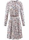 Платье вискозное с ремнем oodji #SECTION_NAME# (розовый), 21912001-2B/26346/4075F
