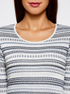 Платье жаккардовое с геометрическим узором oodji #SECTION_NAME# (синий), 14001064-5/46025/7079G - вид 4