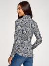 Рубашка приталенная принтованная oodji #SECTION_NAME# (синий), 21402212/14885/7530E - вид 3