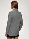 Жакет двубортный льняной oodji для женщины (серый), 11202072/49942/2300C
