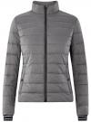 Куртка с трикотажными манжетами и воротником-стойкой oodji #SECTION_NAME# (серый), 10204056/47172/2500N