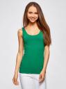 Комплект из двух базовых маек oodji для женщины (зеленый), 24315001T2/46147/6D00N