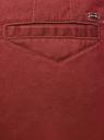 Брюки-чиносы из хлопка oodji для женщины (красный), 11706210/48500/4901N