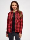 Рубашка в клетку с карманами oodji #SECTION_NAME# (красный), 11411052/42850/4529C - вид 2