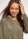 Куртка удлиненная на кулиске oodji для женщины (зеленый), 11D03006/24058/6601N - вид 4