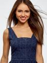 Платье oodji для женщины (синий), 11900192/42854/7900N