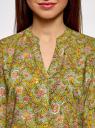 Блузка вискозная прямого силуэта oodji #SECTION_NAME# (зеленый), 21400394-1B/24681/6241F - вид 4