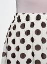 Юбка шифоновая с асимметричным низом oodji для женщины (белый), 13G00010B/35271/1229D