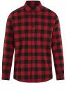 Рубашка хлопковая с длинным рукавом oodji для мужчины (красный), 3L320016M/39882N/4529C