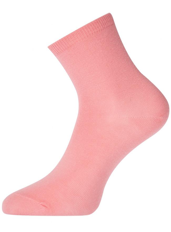 Носки базовые хлопковые oodji #SECTION_NAME# (розовый), 57102466B/47469/4100N