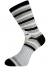 Комплект высоких носков (3 пары) oodji #SECTION_NAME# (разноцветный), 57102902T3/47469/21 - вид 4