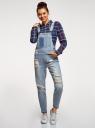 Комбинезон джинсовый с отделкой в стиле пэчворк oodji #SECTION_NAME# (синий), 13108002-1/45254/7000W - вид 2