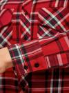 Рубашка в клетку с нагрудными карманами oodji #SECTION_NAME# (красный), 11411052-2/45624/4579C - вид 5