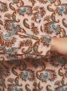 Блузка вискозная А-образного силуэта oodji #SECTION_NAME# (розовый), 21411113B/26346/5470E - вид 5