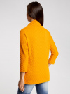 Джемпер из фактурной ткани с широким воротом oodji #SECTION_NAME# (желтый), 24808005/45964/5200N - вид 3