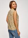 Топ базовый из струящейся ткани oodji для женщины (желтый), 14911006-2B/43414/5019F - вид 3