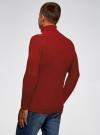 Свитер в рубчик с высоким воротом oodji для мужчины (красный), 4L307010M/47211N/4500M - вид 3