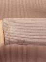 Лонгслив в рубчик облегающего силуэта oodji для женщины (бежевый), 14211017/50249/3500N
