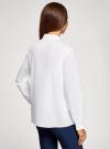 Рубашка хлопковая свободного силуэта oodji #SECTION_NAME# (белый), 13K11019/12836/1000N - вид 3