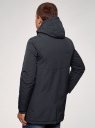Парка с капюшоном и карманами oodji #SECTION_NAME# (синий), 1L422005M/46215N/7900N - вид 3